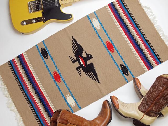 Ganscraft デッドストック・チマヨ・ブランケット GB2040-040 50x100cm バフ(ベージュ) サンダーバード・デザイン