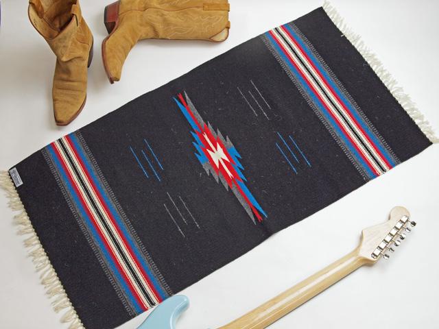 【限定生産カラー】 Ortega's オルテガ 842040-107 手織りチマヨブランケット 50x100cm ブラック