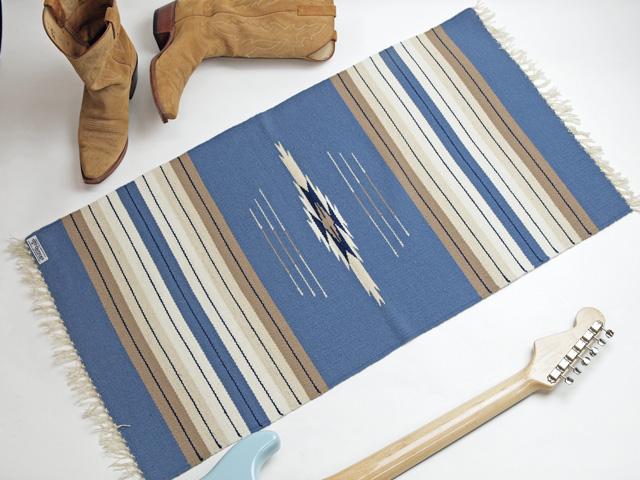 Ortega's オルテガ 842040-113 手織りチマヨブランケット 50x100cm サックスブルー