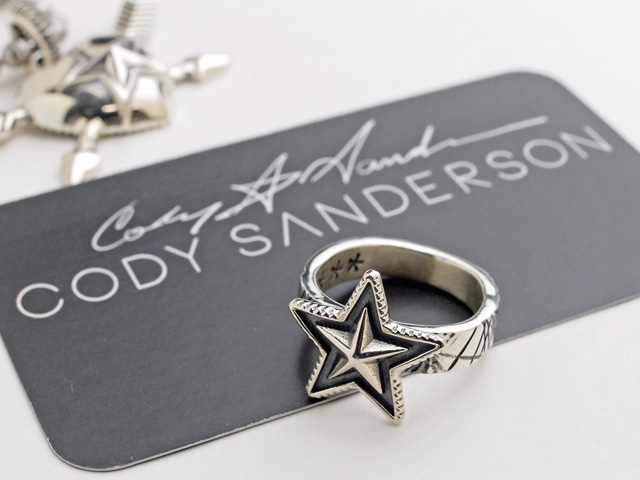 【直輸入純正品】 CODY SANDERSON コディサンダーソン 01-0275 スモールスター・スクエアリング