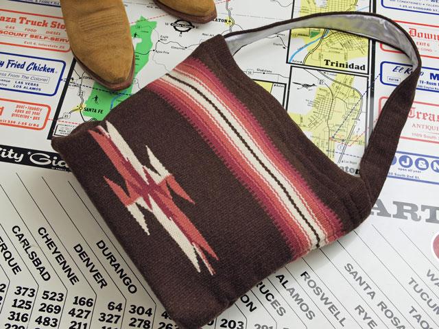 【限定生産カラー】 Ortega's オルテガ 手織りチマヨ・ショルダー・トートバッグ 87ST-083 ダークブラウン