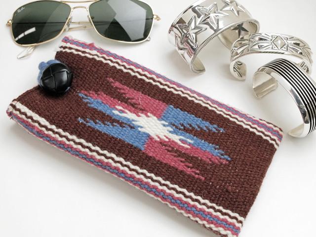 【限定生産カラー】 Ortega's オルテガ 87EC-274 手織りアイグラスケース ミディアムブラウン