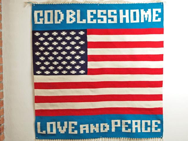 【当店オリジナル】 MK-WORK-101 GOD BLESS HOME / LOVE AND PEACE 星条旗ブランケット