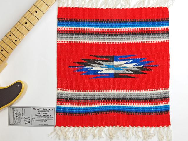 Ganscraft(ガンズクラフト) デッドストック・チマヨ・ブランケット GB1515-015 38x38cm スカーレットレッド