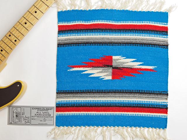 Ganscraft(ガンズクラフト) デッドストック・チマヨ・ブランケット GB1515-018 38x38cm ターコイズブルー