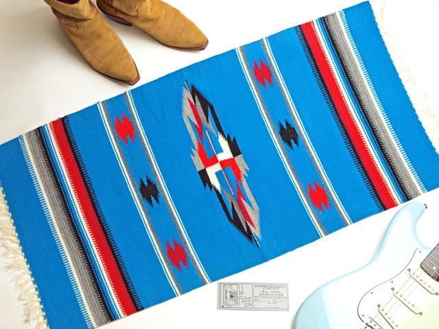 Ganscraft デッドストック・チマヨ・ブランケット GB2040-021 50x100cm ターコイズブルー