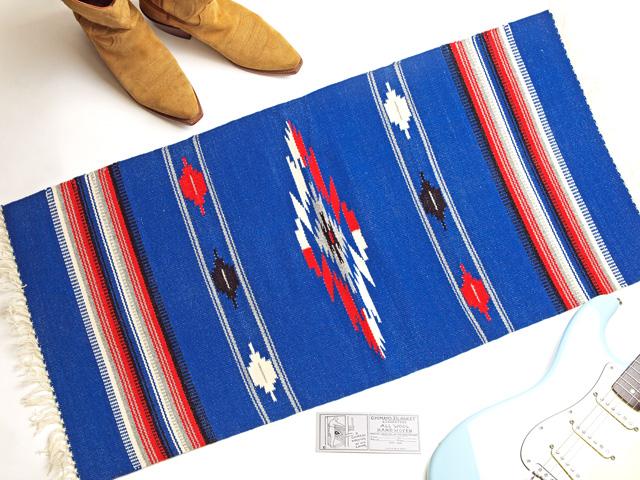 Ganscraft デッドストック・チマヨ・ブランケット GB2040-022 50x100cm ジェンダルムブルー