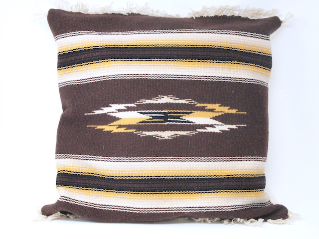 【限定色】 オルテガ 88CU-003 手織りチマヨブランケット・クッション(ピロー) 45x45cm ダークブラウン