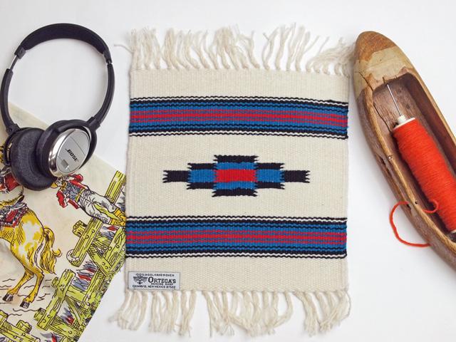 Ortega's オルテガ 841010-960 手織りチマヨブランケット 25x25cm ホワイト