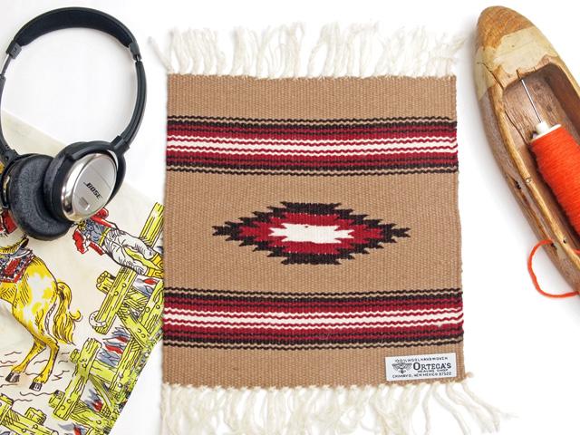 Ortega's オルテガ 841010-966 手織りチマヨブランケット 25x25cm ベージュ