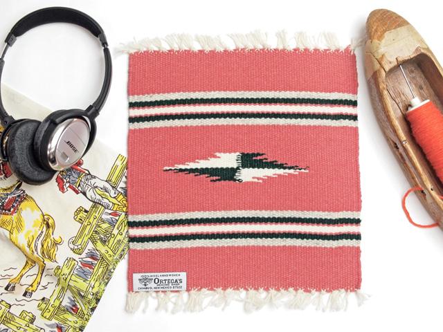 Ortega's オルテガ 841010-969 手織りチマヨブランケット 25x25cm ブリック(サーモンピンク)