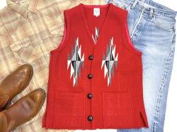 Ortega's オルテガ 手織りチマヨベスト 83SQ-38132 スクエアフロント・タイプ サイズ38 スカーレットレッド