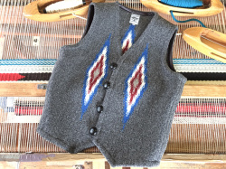 Ortega's オルテガ 手織りチマヨベスト 83RG-36316 サイズ36 チャコールグレー