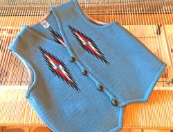 【限定生産ビッグサイズ】 Ortega's オルテガ 手織りチマヨベスト 83RG-4625 サイズ46 サックスブルー