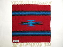 Ortega's オルテガ 841515-080 手織りチマヨブランケット 38x38cm カーディナルレッド ※動画あり