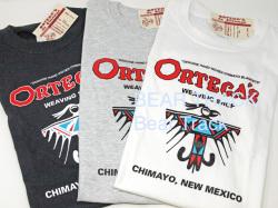 Ortega's オルテガ OR-T04 トレードマーク・プリント半袖Tシャツ
