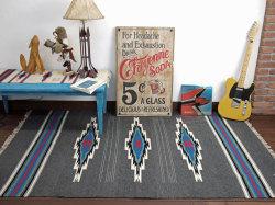 Ortega's オルテガ セリーナ・セラーノ作 手織リチマヨブランケット 845484-012 135x210cm ダークグレー