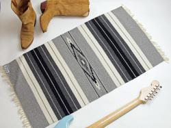 Ortega's オルテガ 842040-106 手織りチマヨブランケット 50x100cm ヘザーグレー