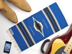 Ortega's オルテガ 841020-135 手織りチマヨブランケット 25x50cm ロイヤルブルー