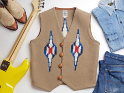 Ortega's オルテガ 手織りチマヨベスト 83RG-36304 サイズ36 ベージュ