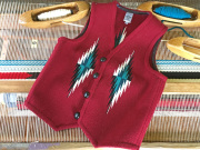 Ortega's オルテガ 手織りチマヨベスト 83RG-38379 サイズ38 カーディナルレッド