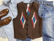 【限定生産カラー】 Ortega's オルテガ 手織りチマヨベスト 83RG-38391 サイズ38 ダークブラウン