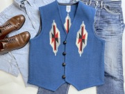 【限定生産ビッグサイズ】 Ortega's オルテガ 手織りチマヨベスト 83RG-4630 サイズ46 ロイヤルブルー