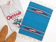 Ortega's オルテガ 84PM-189 手織りチマヨ・プレイスマット(ランチョンマット) ターコイズブルー