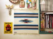 Ortega's オルテガ 手織りチマヨブランケット 842020-056 50x50cm ホワイト ※動画あり