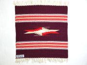 【限定生産カラー】  Ortega's オルテガ 841515-081 手織りチマヨブランケット 38x38cm ダークマルーン ※動画あり