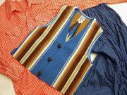 【限定生産サイズ】 Ortega's オルテガ 手織りチマヨ・ベスト 83JR-3419 ボーイズタイプ サイズ34 ロイヤルブルー ※動画あり