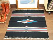 【限定生産カラー】 Ortega's オルテガ 843636-044 手織りチマヨブランケット 90x90cm ブラック