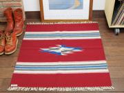 Ortega's オルテガ 843636-046 手織りチマヨブランケット 90x90cm カーディナルレッド