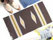 【限定生産カラー】  Ortega's オルテガ 841530-144 手織りチマヨブランケット 38x76cm ダークブラウン