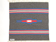 Ortega's オルテガ 842020-072 手織りチマヨブランケット 50x50cm チャコールグレー