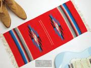 Ganscraft デッドストック・チマヨ・ブランケット GB1530-015 38x76cm スカーレットレッド