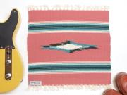 Ortega's オルテガ 841515-102 手織りチマヨブランケット 38x38cm ブリック(サーモンピンク)
