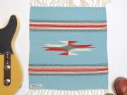 【限定生産カラー】 オルテガ 841515-103 手織りチマヨブランケット 38x38cm アクアブルー