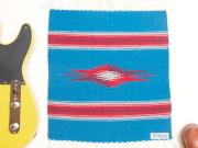 Ortega's オルテガ 841515-104 手織りチマヨブランケット 38x38cm ターコイズブルー