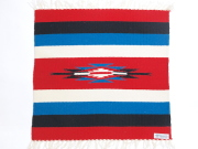 オルテガ 842020-080 手織りチマヨブランケット 50x50cm スカーレットレッド