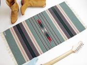 Ortega's オルテガ 842040-117 手織りチマヨブランケット 50x100cm ヘザーグリーン