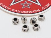 【直輸入純正品】 CODY SANDERSON コディサンダーソン 07-0035 ホロー・スター・ロンデール・ビーズ(2個セット)