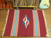 【限定生産カラー】 Ortega's オルテガ 843636-051 手織りチマヨブランケット 90x90cm ワインレッド