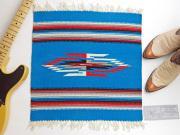 Ganscraft デッドストック・チマヨ・ブランケット GB2020-013 50x50cm ターコイズブルー
