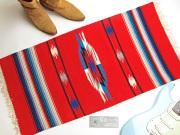 Ganscraft デッドストック・チマヨ・ブランケット GB2040-018 50x100cm スカーレットレッド