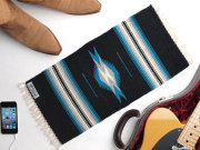 【限定生産カラー】 Ortega's オルテガ 841020-126 手織りチマヨブランケット 25x50cm ブラック