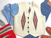 【限定生産ビッグサイズ】 Ortega's オルテガ 手織りチマヨベスト 83RG-4466 サイズ44 ホワイト