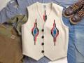 オルテガ 手織りチマヨベスト 83RG-42115 サイズ42 ホワイト