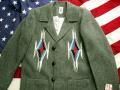 オルテガ 手織りチマヨ・ジャケット 81RG-4208 サイズ42 ダークグレー ※動画あり