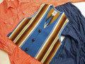 【限定品】オルテガ 手織りチマヨ・ベスト 83JR-3419 ボーイズタイプ サイズ34 ロイヤルブルー ※動画あり